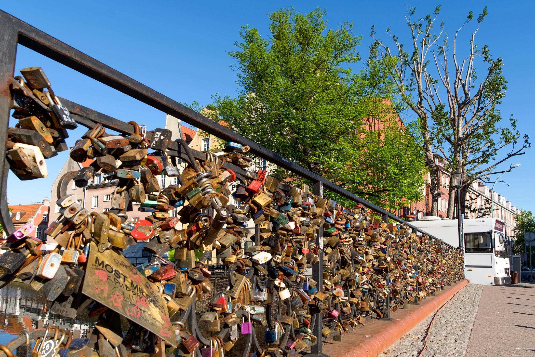 Gdaňsk - most lásky