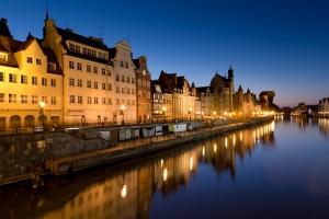 Gdaňsk v noci